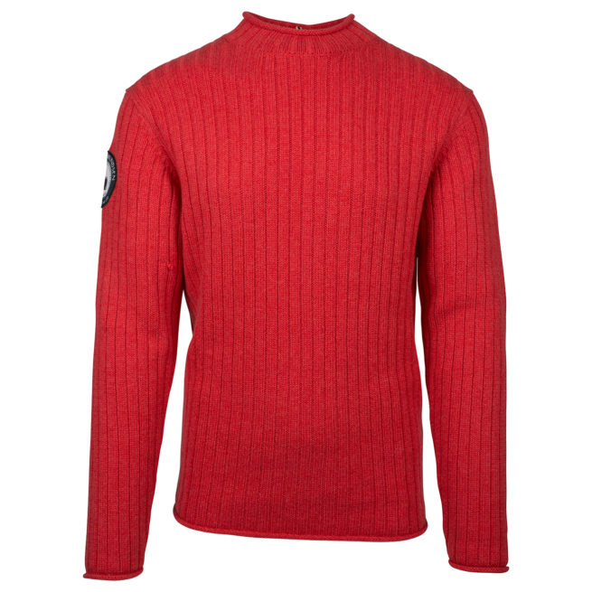 ROALD ROLL NECK (M) - Weathered Red, S