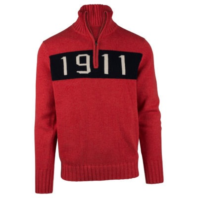 1911 HALF ZIP (M) - Weathered Red, S
