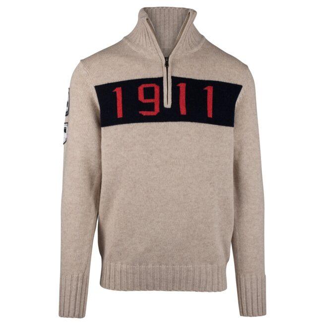 1911 HALF ZIP (M) - Oatmeal, XXL