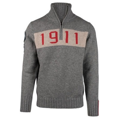 1911 HALF ZIP (M) - Light grey, XXL
