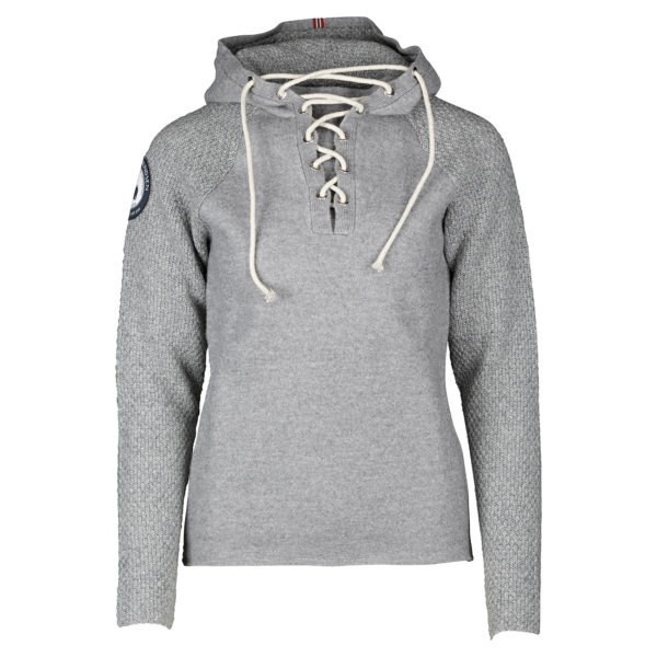 BOILED HOODIE LACED (W) - Light grey, XS