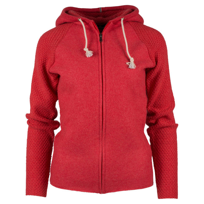 BOILED HOODIE JACKET (W) - Weathered Red, XS
