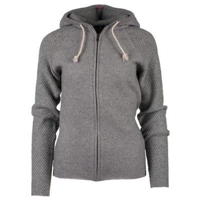 BOILED HOODIE JACKET (W) - Light grey, XS