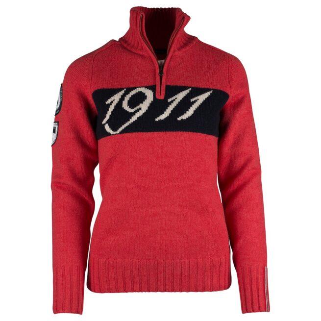 1911 HALF ZIP (W) - Weathered Red, XS