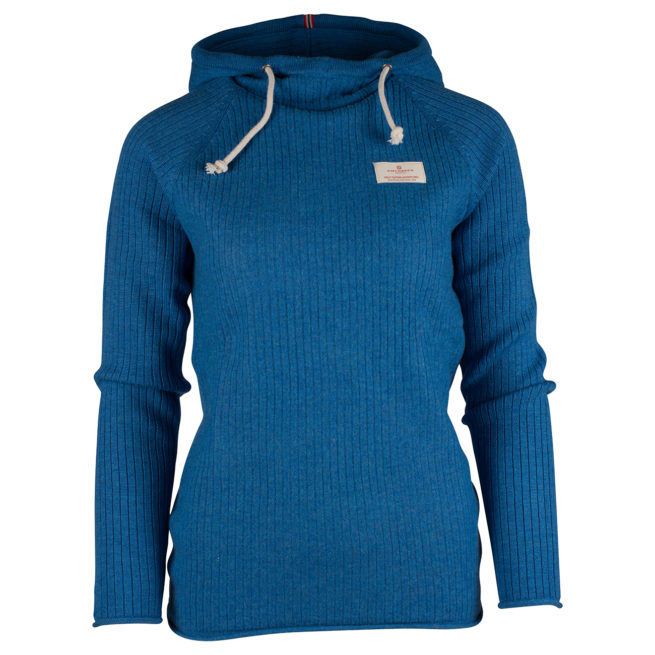 BOILED HOODIE RIBBED (W) - Battered Blue, XS
