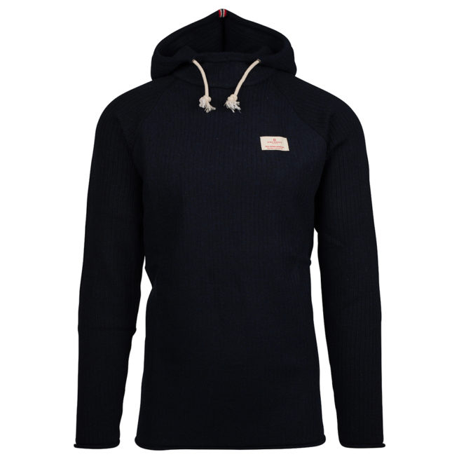 BOILED HOODIE RIBBED (M) - Faded Navy, M