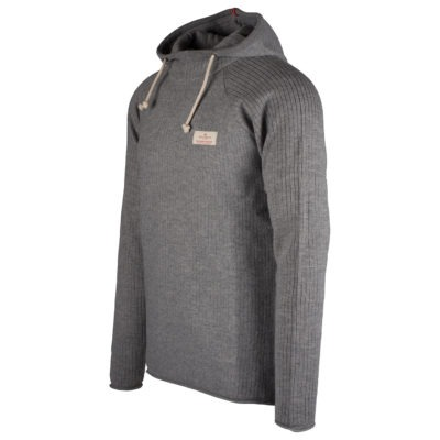 BOILED HOODIE RIBBED (M) - Light grey, S