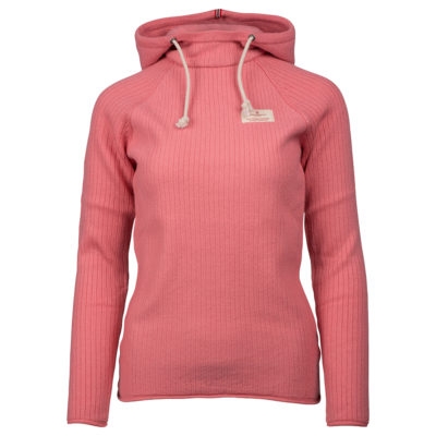 BOILED HOODIE RIBBED (W) - Pink, XS