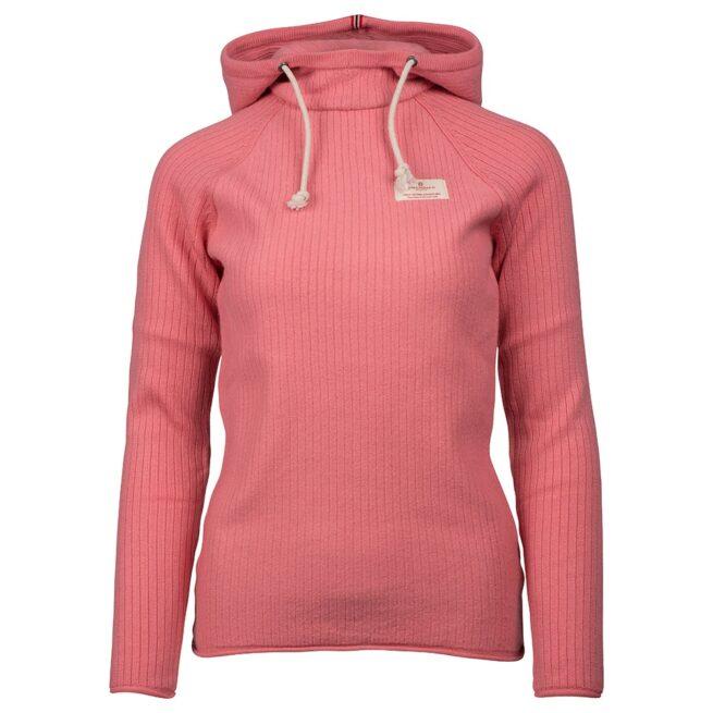 BOILED HOODIE RIBBED (W) - Pink, XS