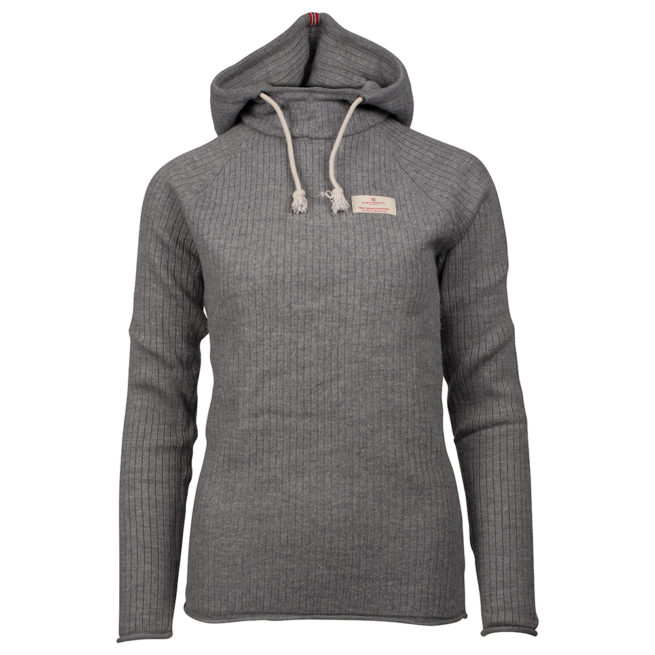 BOILED HOODIE RIBBED (W) - Light grey, XS